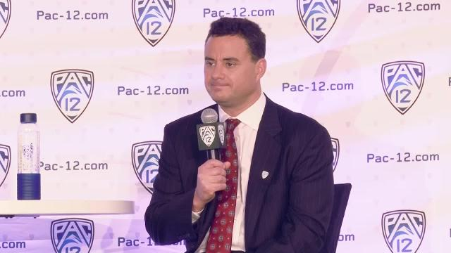 Arizona men's basketball coach Sean Miller and guard Kadeem Allen talk about the 2016-17 college basketball season at the Pac-12 Media Day in San Francisco on Oct. 21. (Cronkite News)