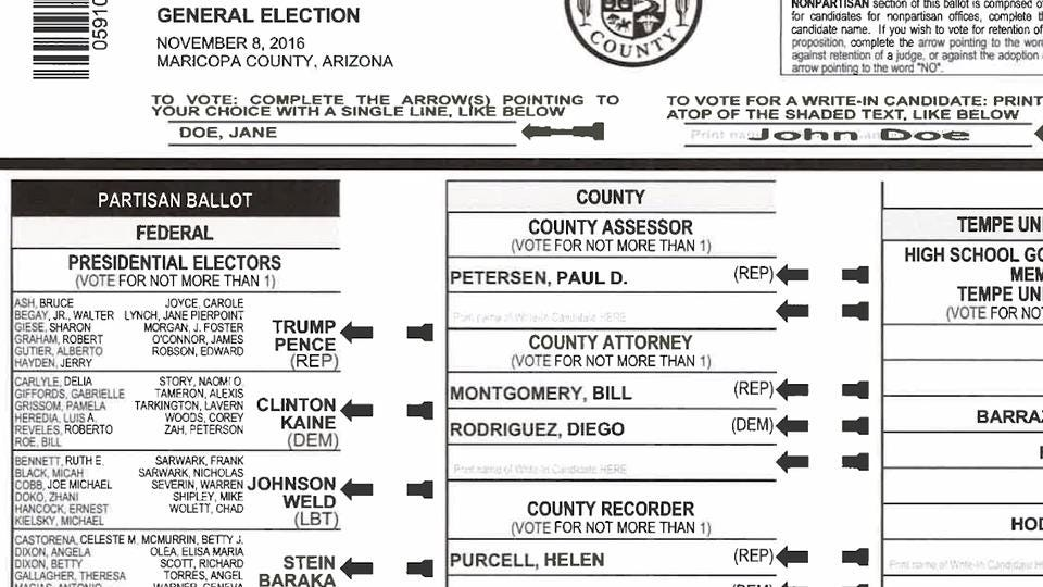 How to fill out your Arizona ballot