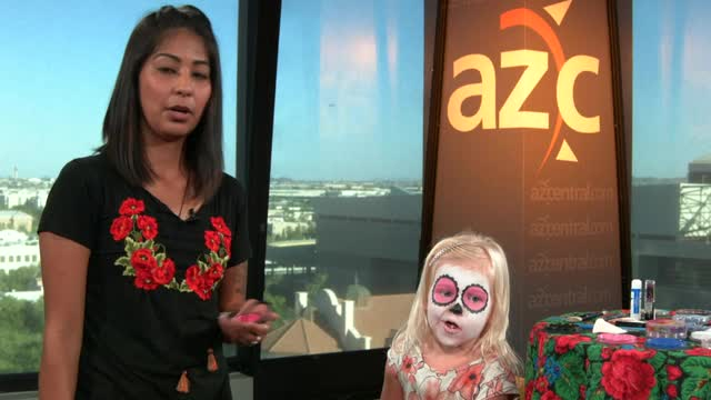 Dia de Los Muertos makeup for kids