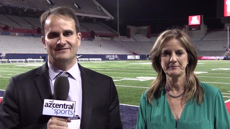 azcentral sports' Doug Haller and Paola Boivin discuss Arizona's 56-35 beatdown on ASU in the Territorial Cup. (Thomas Hawthorne/azcentral sports)