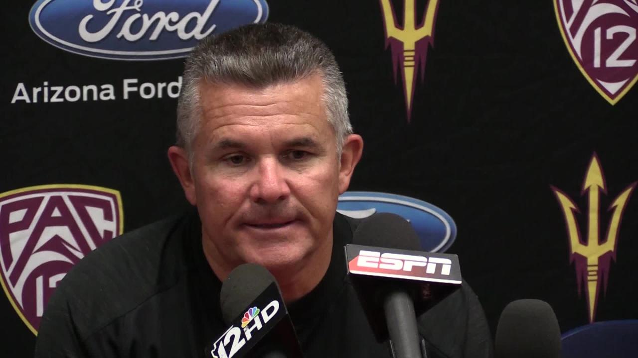 Todd Graham talks about ASU's 56-35 loss to Arizona in the Territorial Cup. (Thomas Hawthorne/azcentral sports)