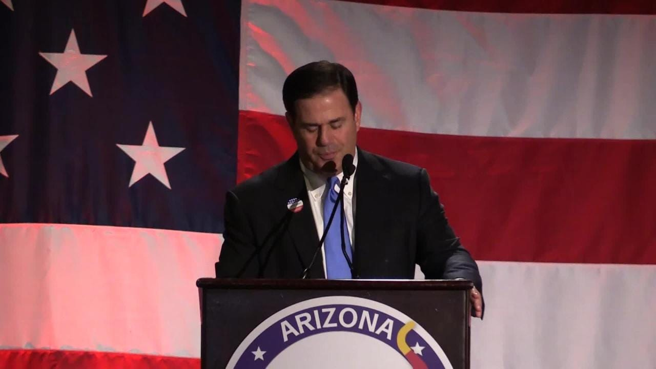 Gov. Doug Ducey speaks at Republican Election Night party