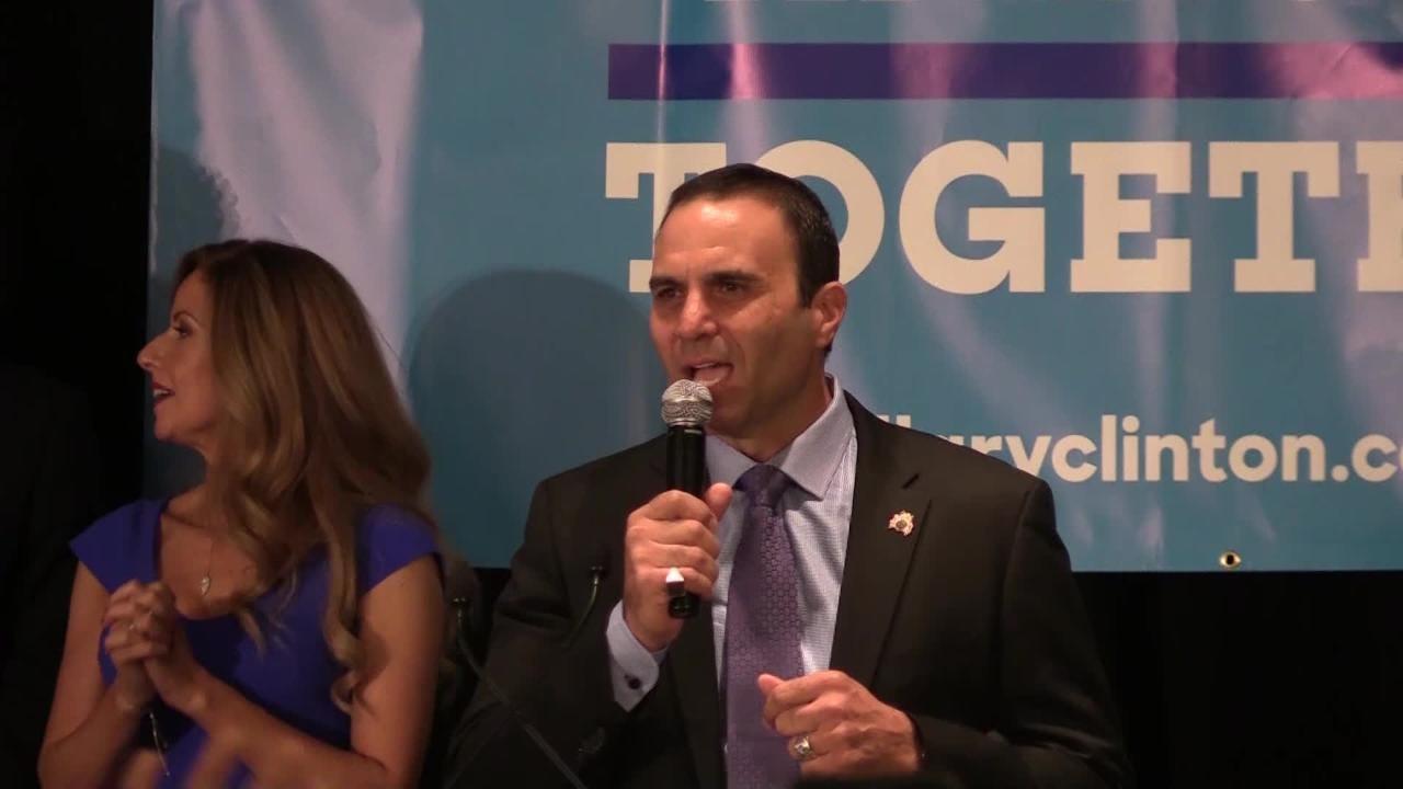 Paul Penzone speaks after winning Maricopa County sheriff race
