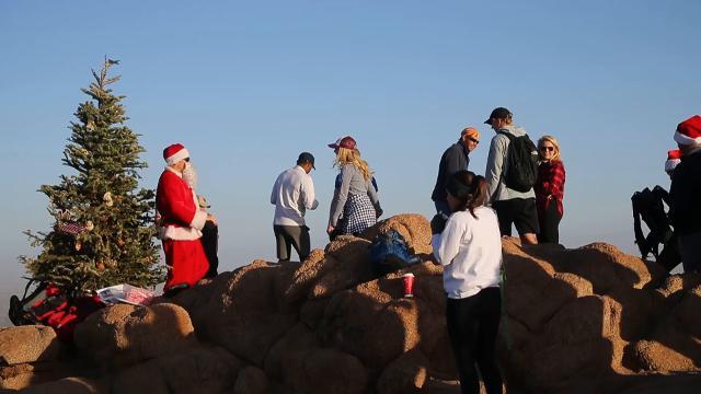 Camelback Santa spreads Christmas cheer 1,300 feet above Valley floor