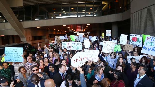 Sunday's immigration ban protest at Sky Harbor