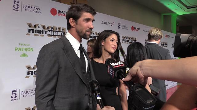 Michael Phelps at Celebrity Fight Night
