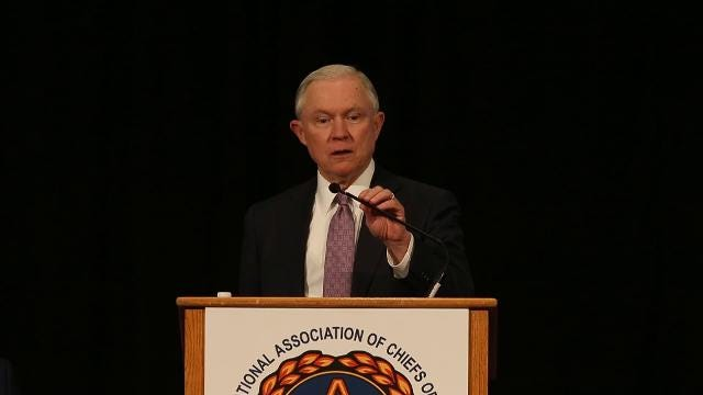 Attorney General Jeff Sessions talks about Trump administration policies