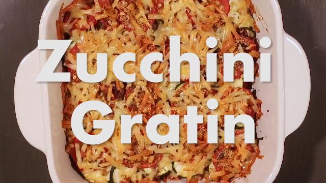 Tasty zucchini gratin helps prevent food waste in the kitchen