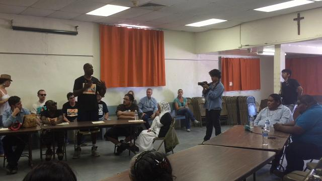 Gerald Sparks speaks at the Tohono O'odham Nation