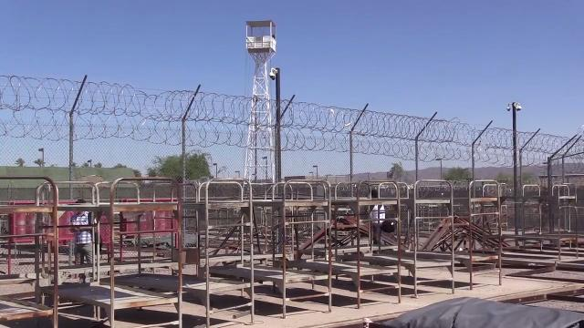 Tent City, infamous home of inmates who wear pink underwear