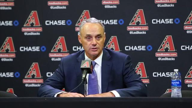 MLB Commissioner Rob Manfred on rift between D-Backs, Maricopa County
