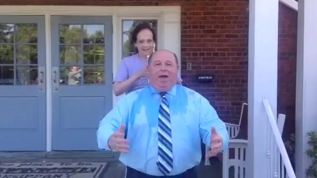 Parsippany Mayor James Barberio participates in the #IceBucketChallenge in Parsippany N.J. Video courtesy James Barberio, August 15, 2014.
