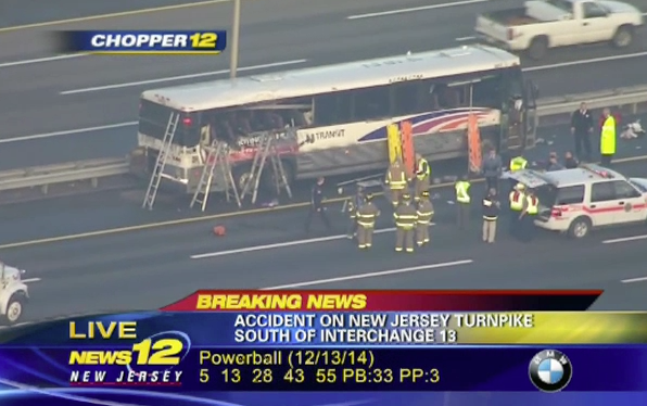 Bus from Lakewood involved in Turnpike crash