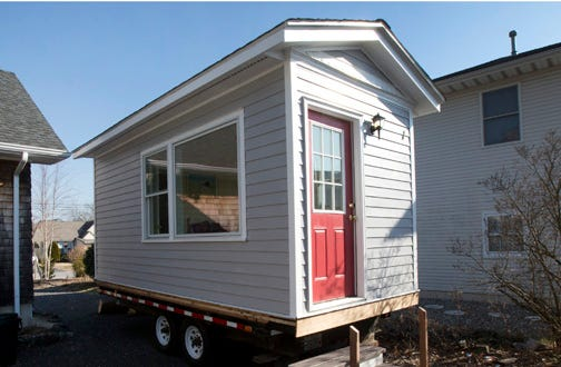 micro home.  Lacking land tiny home put up for sale