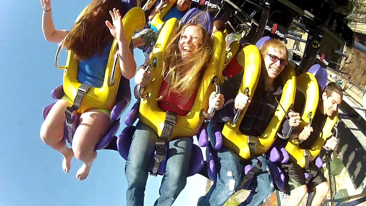 Batman goes backward at Six Flags Great Adventure