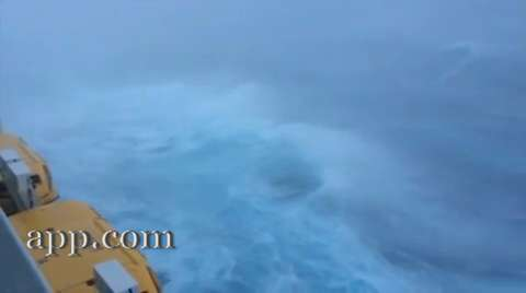 RAW VIDEO: Anthem of the Seas cruise ship during storm