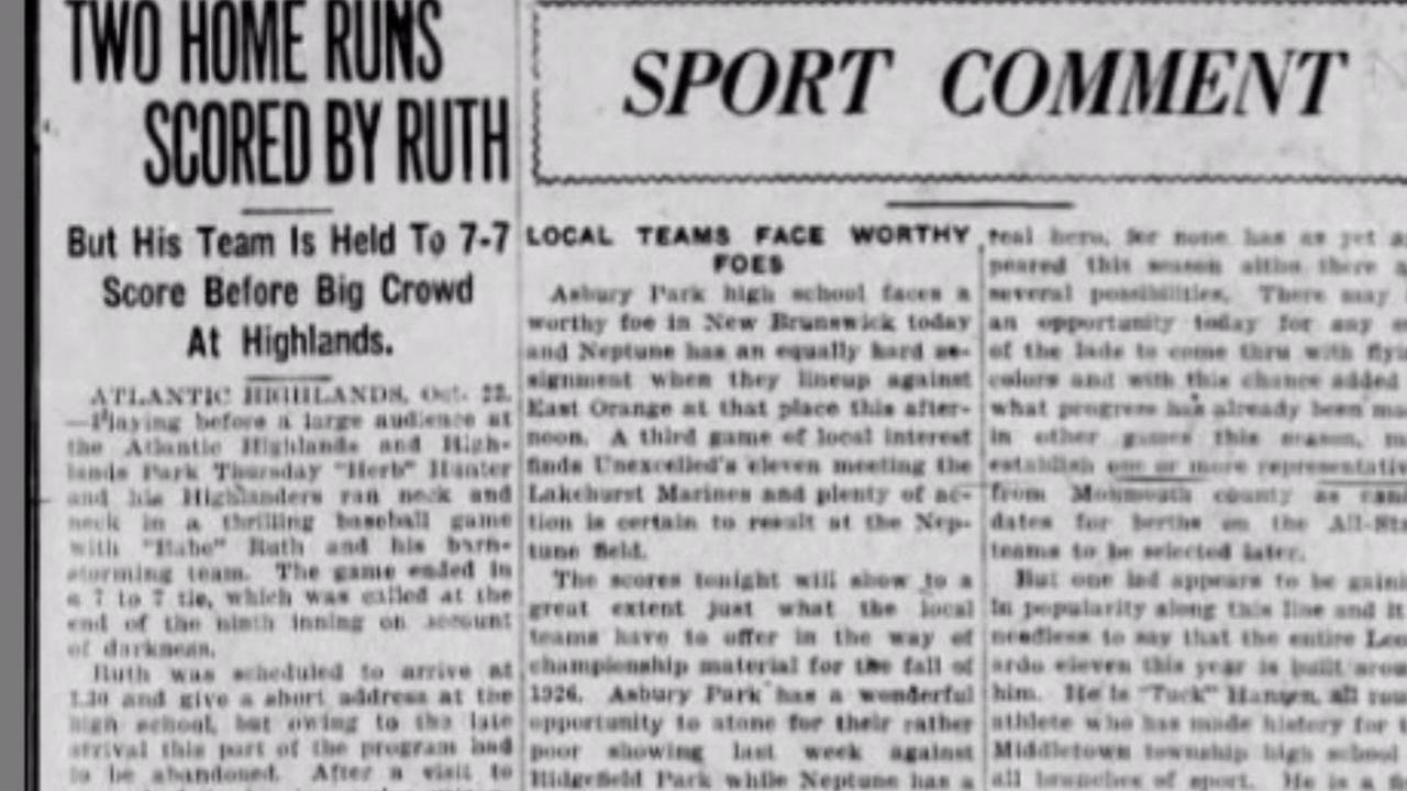 Babe Ruth Part Of Rich Baseball History At Jersey Shore