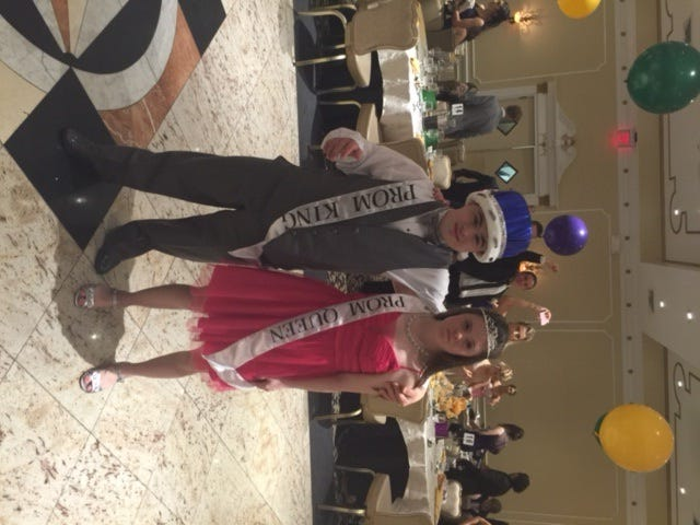 Sal Rinaudo and Meghan Vadon raced to the stage to be crowded prom king and queen of Middletown South.