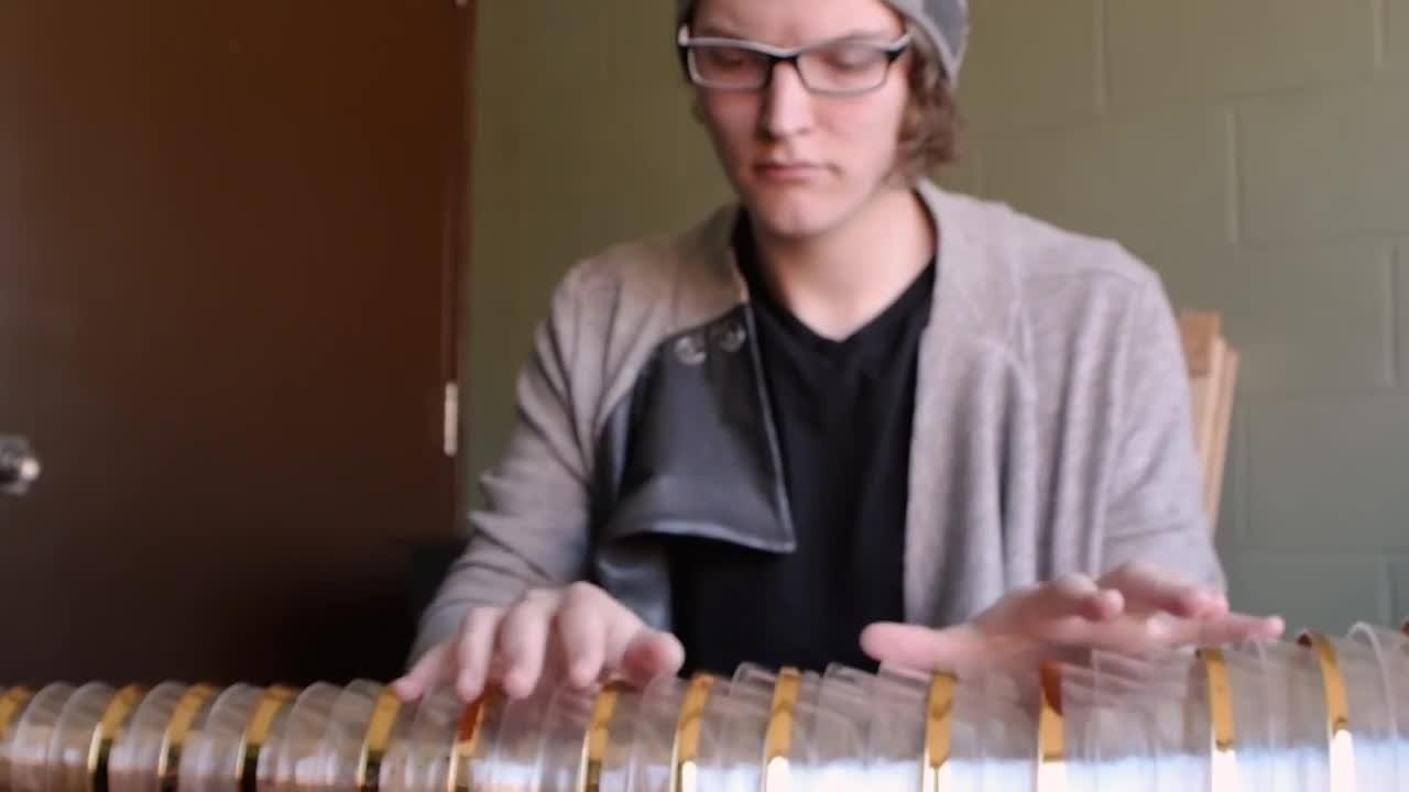 Rutgers student in 'Logan' film demonstrates glass armonica