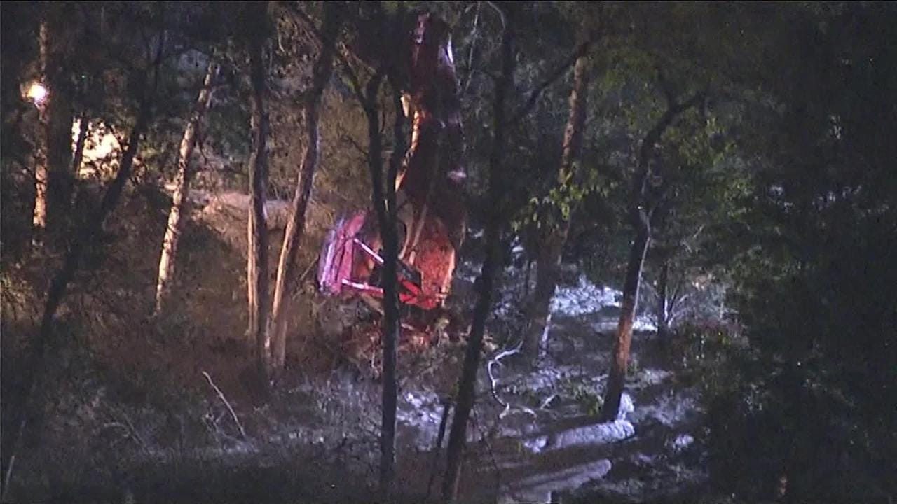 Small plane crashes into trees in Eagleswood