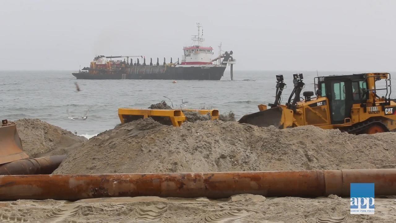 Raw Video: Beach replenishment begins in Ortley Beach