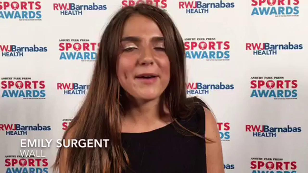 WATCH: Wall's Emily Surgent is totally surprised at being named POY