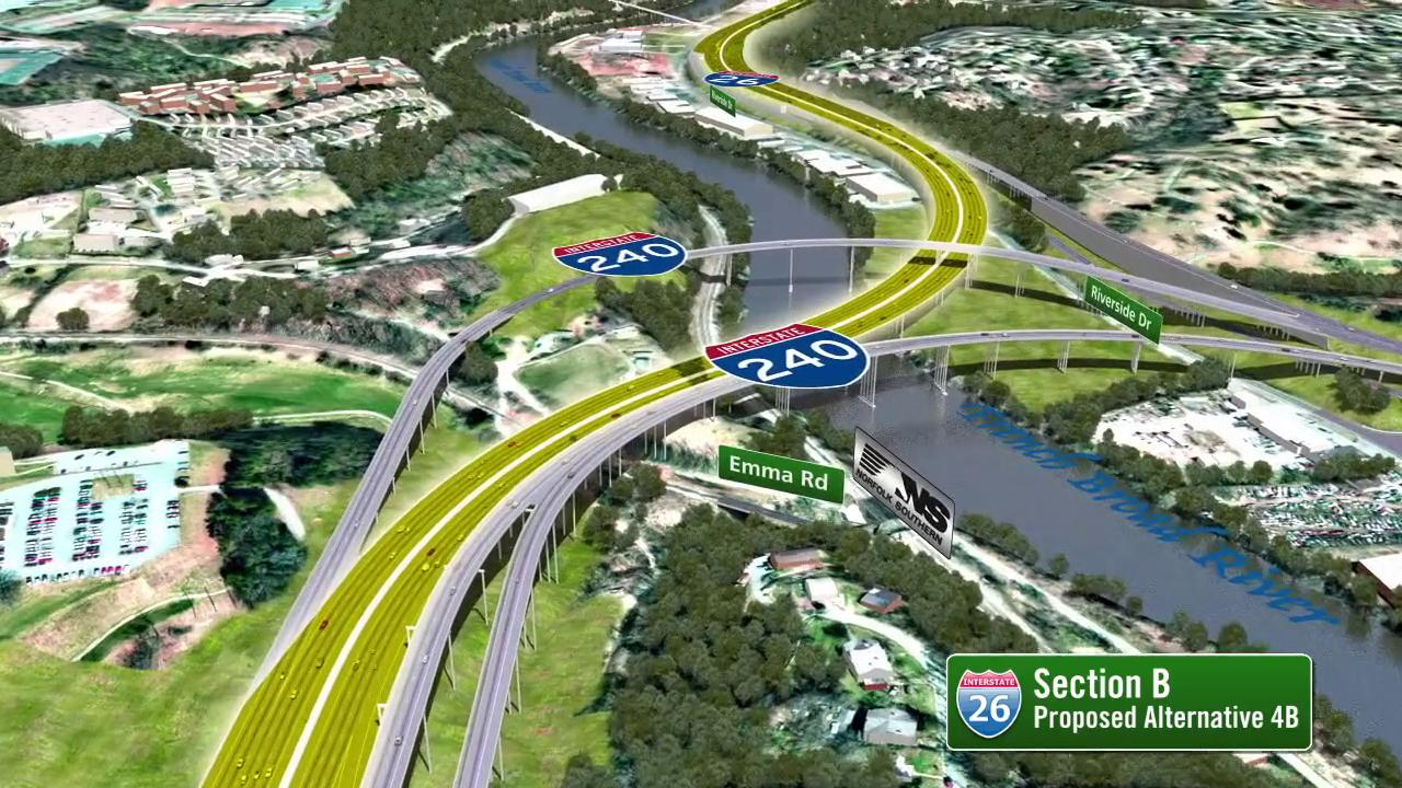 At a glance: 4 options for I-26 over the river