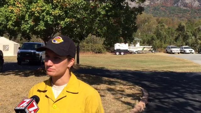 Fire near Lake Lure