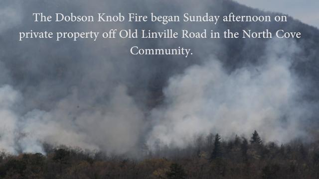 Dobson Knob Fire 10 percent contained
