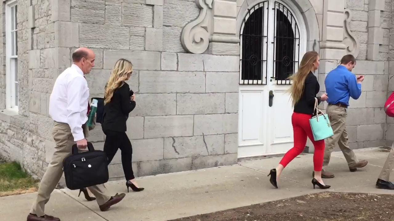 Video: Cal Harris arrives at court