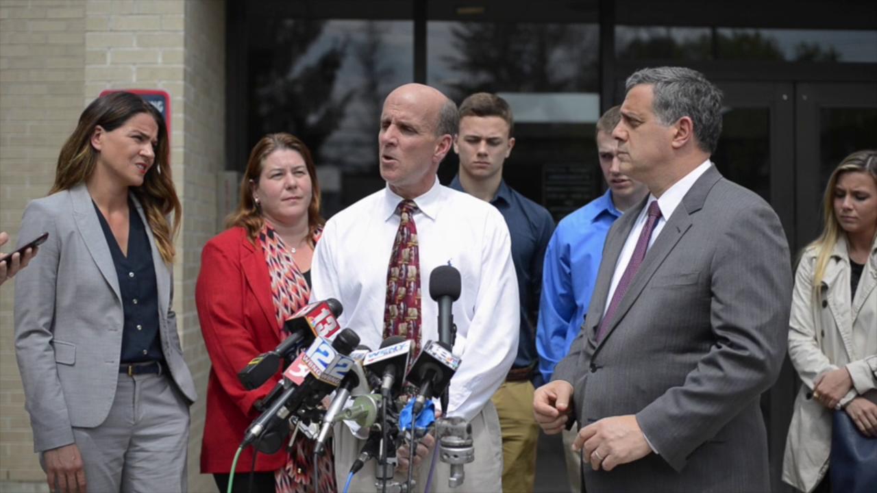 Cal Harris reacts to not guilty verdict