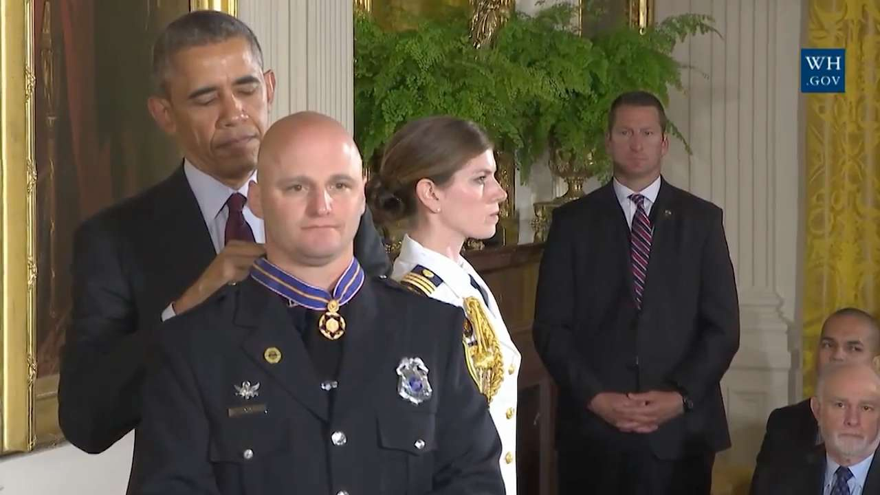 Video: Johnson City officer Lou Cioci honored at White House