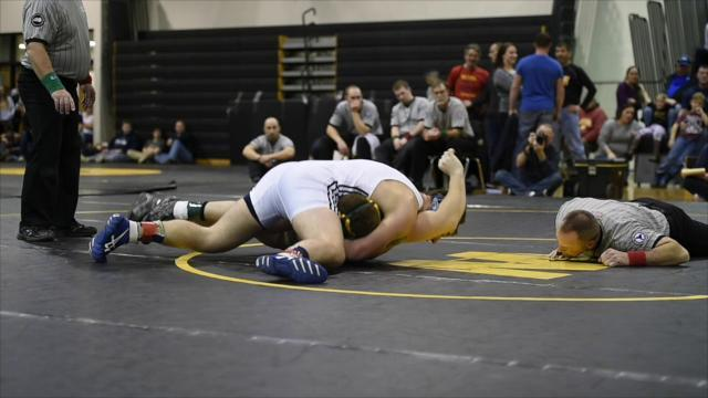 Susquehanna Valley's Richie Knapp pins Vestal's Sean DeGroat to win the 195-pound final during the 60th Windsor Christmas Tournament on Thursday.