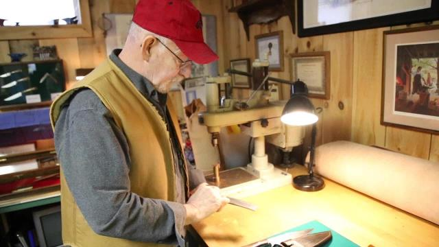 Erin resident Ray Smith talks about how he began in the blacksmith and bladesmith trade.