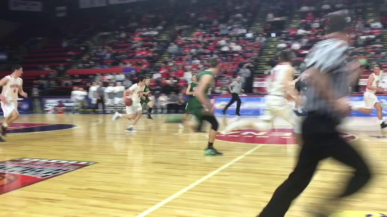 Moriah was a 61-52 winner over Newfield in the Class D boys basketball state championship game March 18 at the Floyd L. Maines Veterans Memorial Arena in Binghamton.