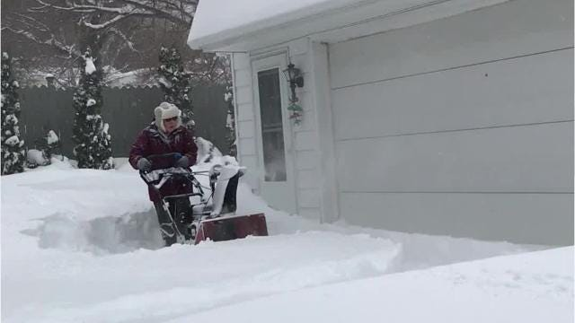 VIDEO: Watch this 91-year-old snow blow her driveway