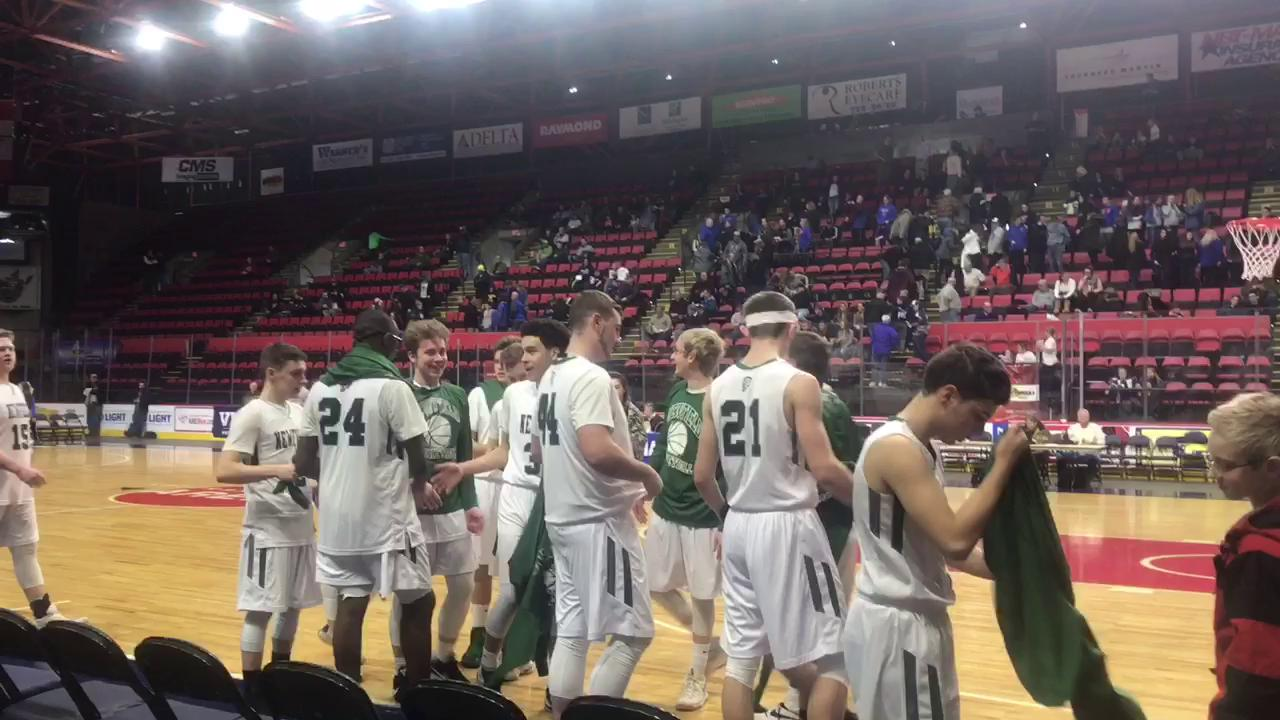 The Newfield boys basketball team defeated S.S. Seward of Section 9, 56-40, on Sunday in the Class D state regional in Binghamton.