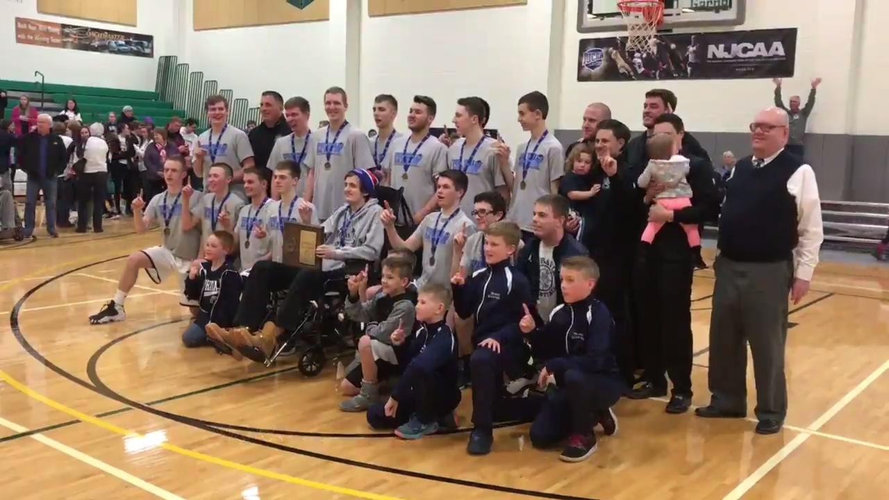Moravia defeated Elmira Notre Dame, 39-33, in the Section 4 Class C championship game at Tompkins Cortland Community College.