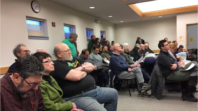 Dryden residents opposed a solar projects at a public hearing because of their location to Willow Glen Cemetery and potential affects on wildlife.