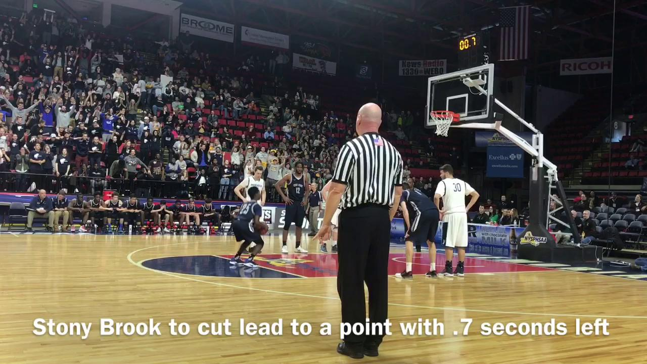 Moravia boys basketball team defeated Stony Brook, 55-53, on Friday to advance to the state final.