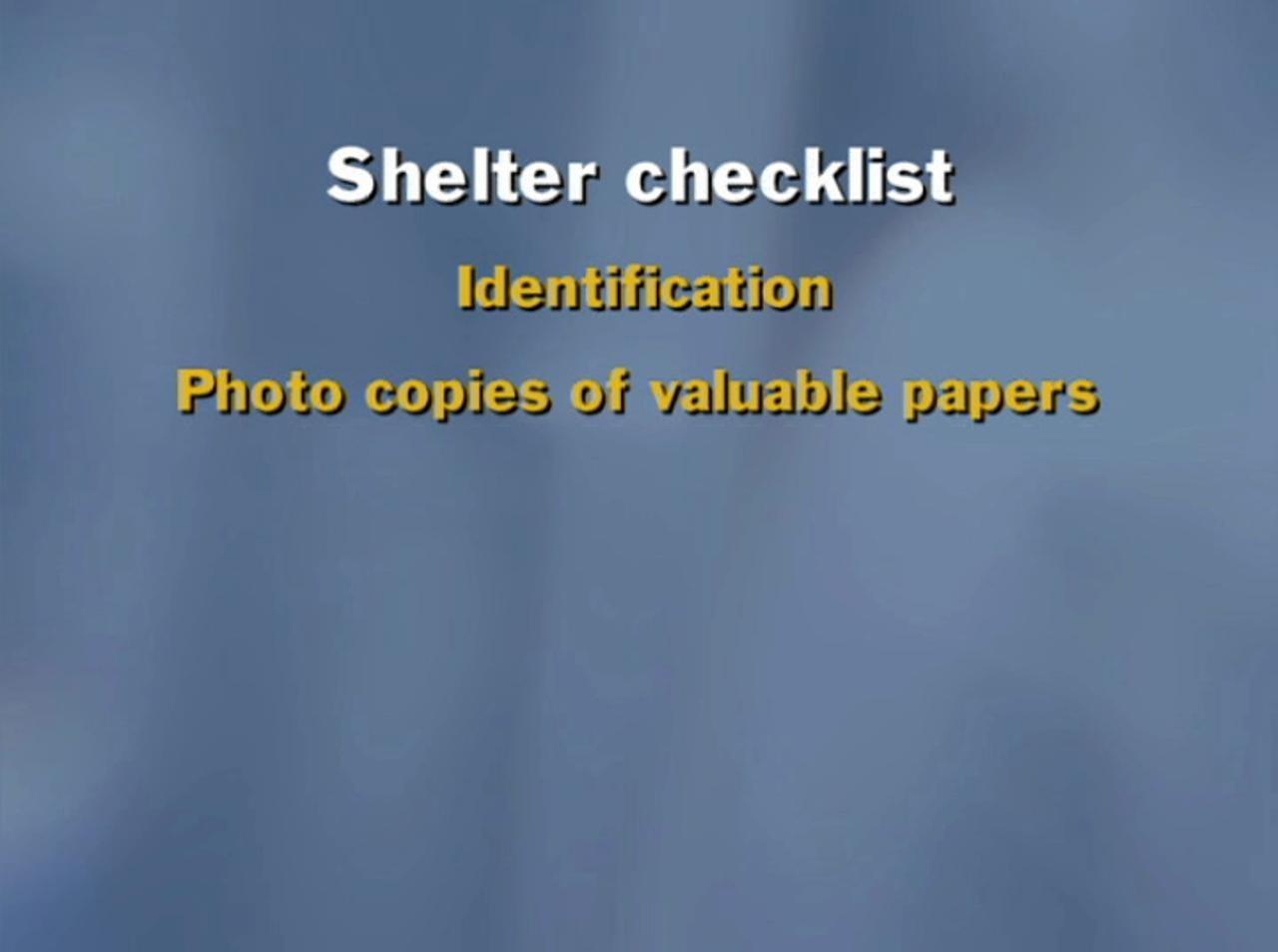 Hurricane prep: Shelter checklist
