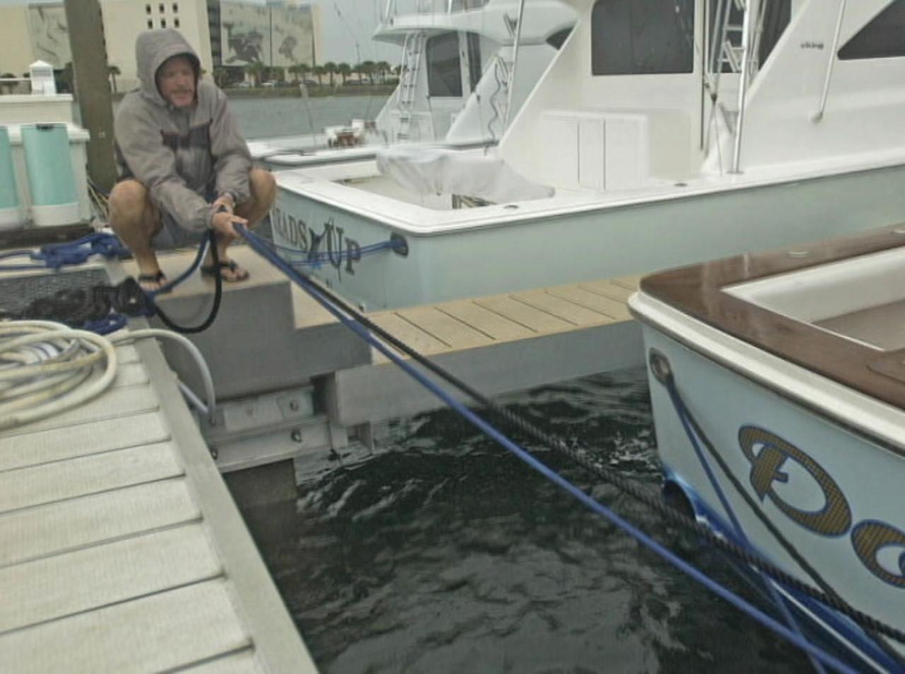 Hurricane prep: Boats