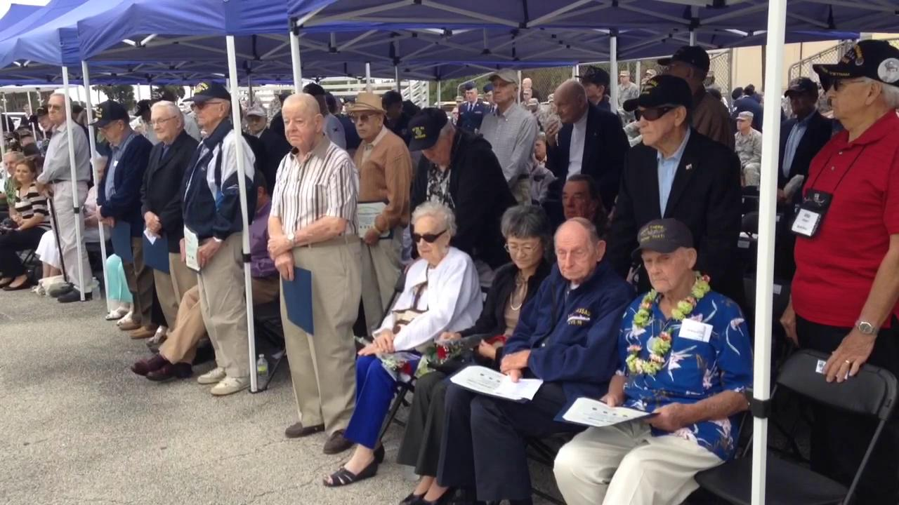 About 100 veterans of the Pacific war, including a Pearl Harbor survivor gathered to remember December 7,1941.  Video by Tim Shortt. Posted 12/7/15.