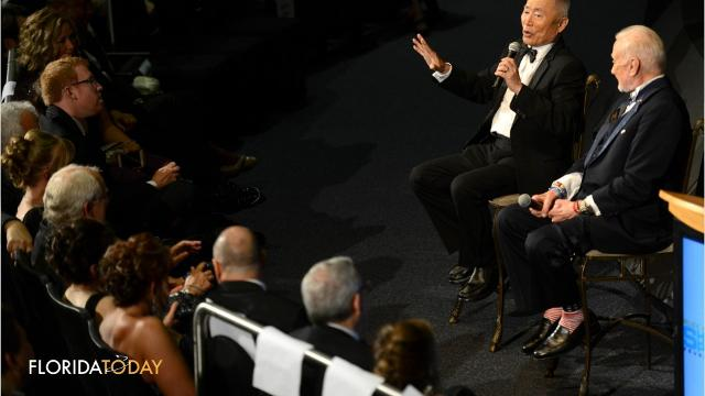 "Live long, prosper and go to Mars. That was the message Saturday night at the Apollo 11 anniversary gala hosted by iconic ""Star Trek"" actor George Takei and legendary astronaut Buzz Aldrin.