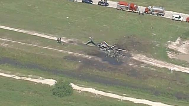 Raw video: Helicopter crash in Palm Bay's Compound area