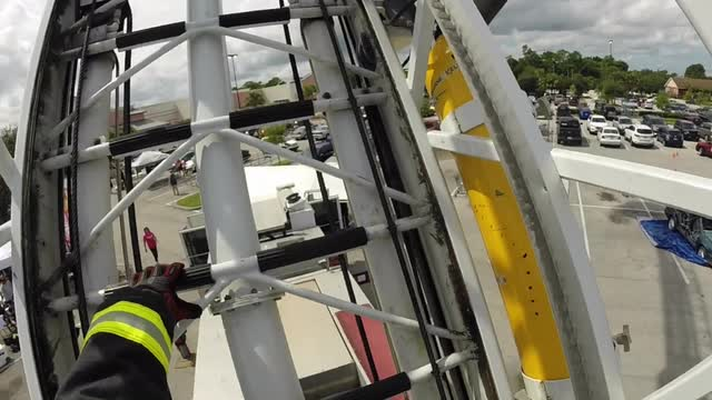 palm bay firefighters climb 100 foot ladder 300 times