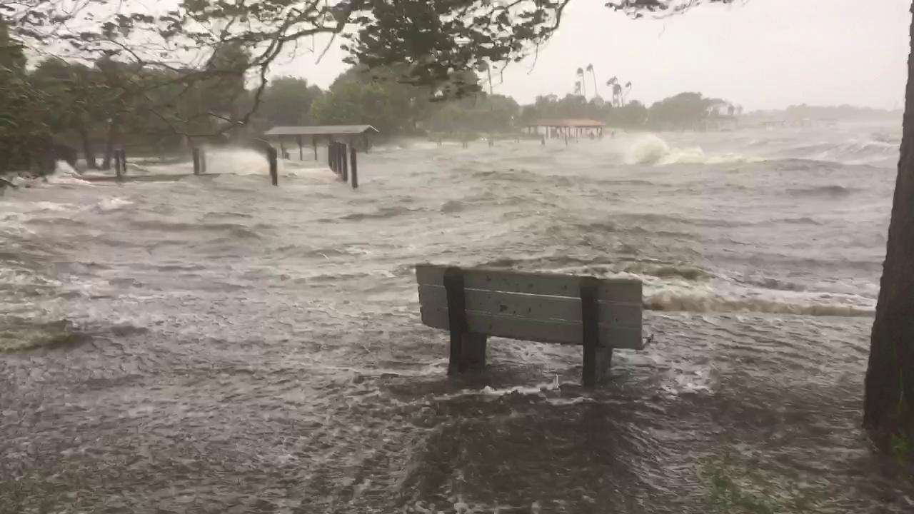 River storm surge strikes Douglas Park in Indialantic