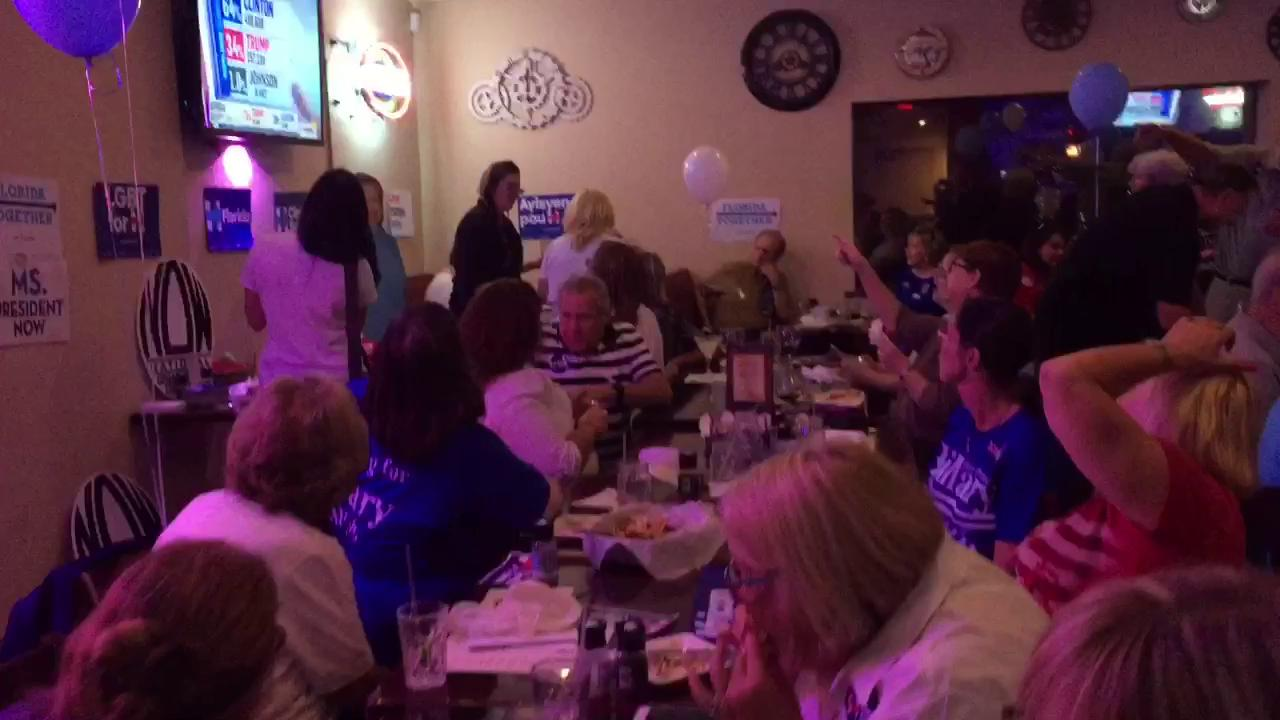 Democrats following election results from Melbourne