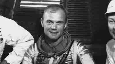 John Glenn's historic orbital flight in 1962