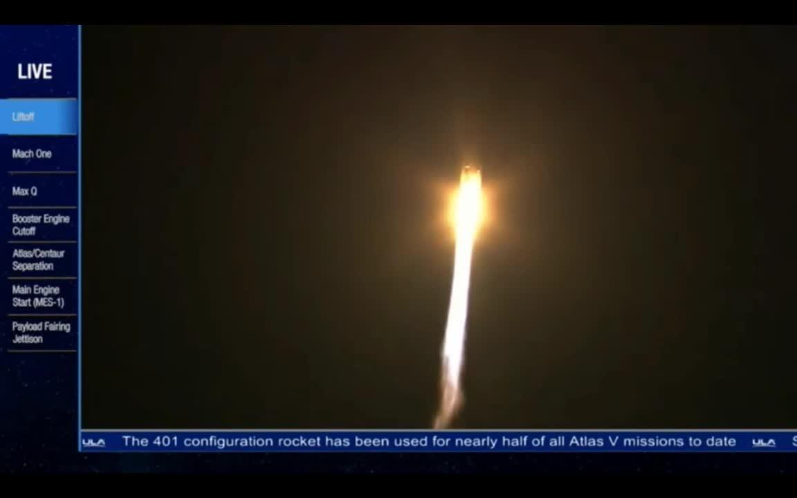 Atlas V rocket blasts off with missile detection satellite